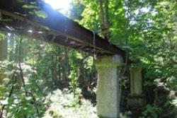森林鉄道のひとつ小田川支線