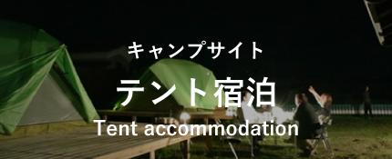 キャンプサイトテント宿泊