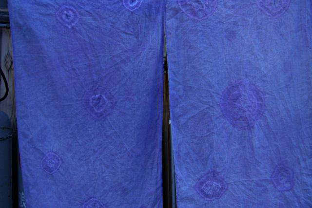 草木染めの暖簾